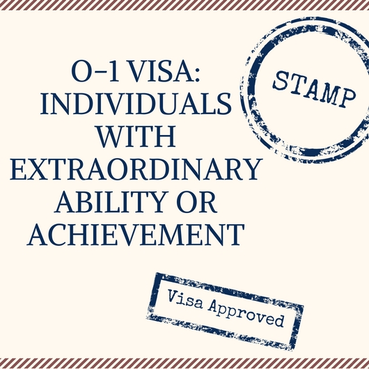 O 1 Visa Individuals With Extraordinary Ability Or Achievement